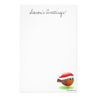 Seasons tweetings cute Christmas Robin stationery