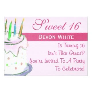 Personalized Sweet 16 Party Invitation