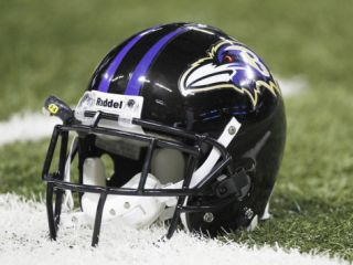 Baltimore Ravens   Sept 25, 2011: Baltimore Ravens Helmet Photographic Print by Jeff Roberson