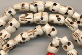 Mala Skull Knochen Totenkopf Gebetskette Halskette 140