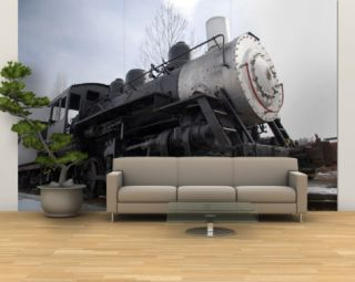 An Old Steam Engine Sits on a Siding Wall Mural – Large by Taylor S. Kennedy