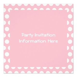 Pink & White Polka Dots Personalized Announcements