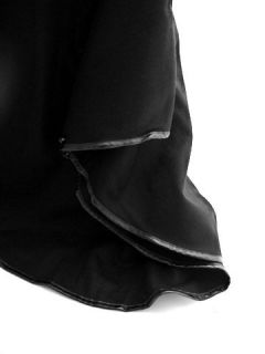 Damen Kappe Poncho Mantel Wolle Leder Modell Kelly Größe 42 Schwarz