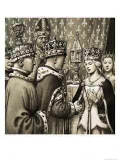 The Marriage of King Henry V and Princess Katherine of France Giclee Print by Pat Nicolle