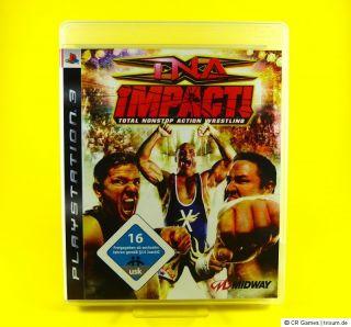 TNA Impact ! + Poster   wie neu   dt. Version   PS3 Spiel   Total