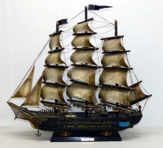 Espanola ANO 1780 schoenes Schiffsmodell aus Holz mit Sockel 60cm 139