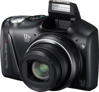 Canon PowerShot SX150 HS 14.1 MP Digitalkamera   schwarz Full HD 12x