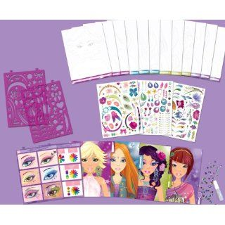 Style Me Up! Designer Studio Hair & Makeup Medium Sketchbook [With
