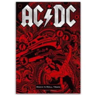 ACDC Poster Fahne Rock n Roll Train: Sport & Freizeit