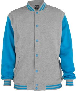 Urban Classics : Kids 2 tone College Sweatjacket cool Hip Hop