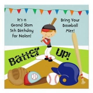 invitations are great for boys who love baseball or are having a