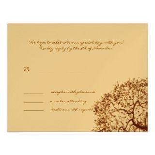 Honeysuckle Hearts Birch Tree Wedding Invitations