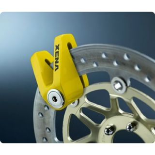XENA X1 Y MOTORBIKE BIKE MOTORCYCLE DISC LOCK YELLOW
