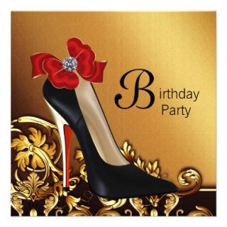 high heel shoe birthday party invitations womans high heel shoe