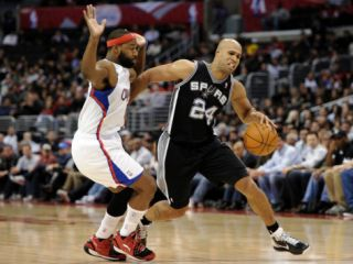 San Antonio Spurs v Los Angeles Clippers Richard Jefferson and Baron Davis Photographic Print by Harry How