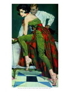 The Other Wife   Saturday Evening Post Men at the Top, January 30, 1960 pg.31 Giclee Print by Bob Me Ginnis