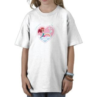 Young Ariel In Heart Disney T shirt