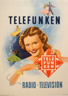 Telefunken Visage Et Danss   Large Collectable Print