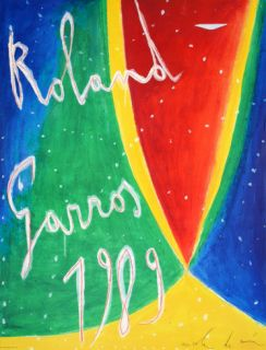 Roland Garros 1989   De Maria Collectable Print by Nicola De Maria