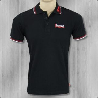 Lonsdale London Polo Lion black white red Poloshirt neu Shirt