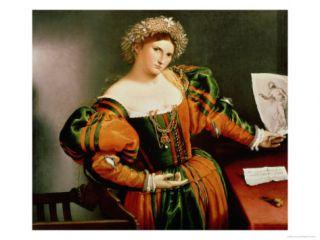 Lady with a Drawing of Lucretia, c.1530 33 Giclee Print by Lorenzo Lotto