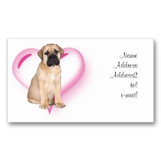 Love bullmastiff puppy business cards