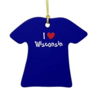 Love Wisconsin Ornament