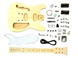 Gitarre Selber Bauen Bausatz T Stil F Loch Einzelteile Ulme Body