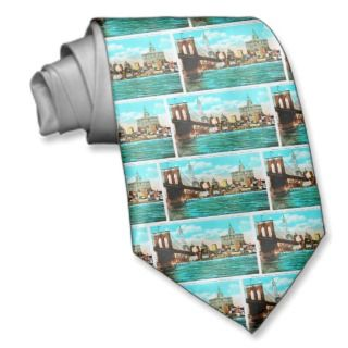 Brooklyn Bridge & Woolworth Vintage New York City Neck Ties