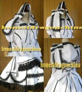 Gothic Lolita Cosplay Kleid weiß Maßanfertigung B6