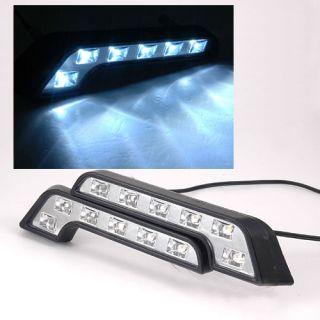 2x 6 High Power SMD LED Auto PKW Tagfahrlicht Tagfahrleuchten Lampe in
