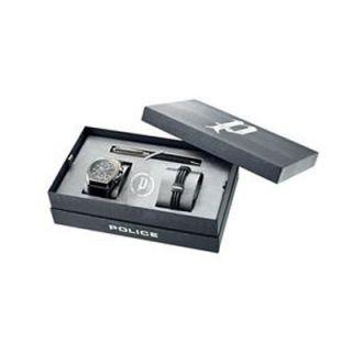 Police GUN BOX PL124116JSU/02 Gun Metal Dynamite Uhr+Armband+Pen