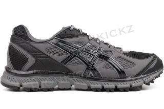 Asics Gel Scram T2J1N 9099 New Men Black Onyx Grey Running Training