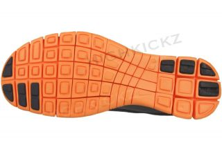 Nike Free 4 V2 511527 008 New Women Grey Vivid Orange Running Training