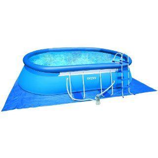 Intex Frame Pool Set Oval 549 x 305 x 107 cm, Kartuschenfilter 3.800 l