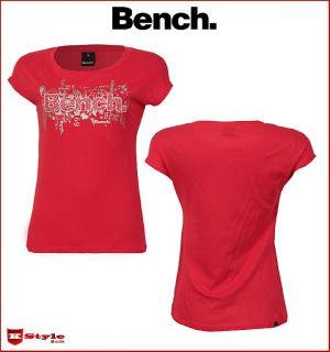 BENCH Morph 2 Damen T Shirt XS S M L XL rot NEU OVP