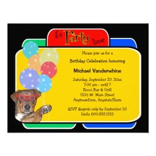 Breed Puppy Birthday Barker Personalized Announcement