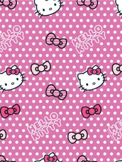 hello kitty candy spot polka dot black hot pink single. Black Bedroom Furniture Sets. Home Design Ideas