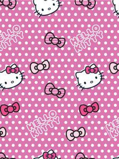 Original Hello Kitty Candy Spot 2x Fertig Gardinen / Übergardinen