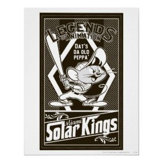 Speedy Gonzalez Miami Solar Kings Pin Up B/W Posters