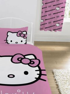 Hello Kitty 2x Fertig Gardinen Vorhänge 183x168 NEU OVP