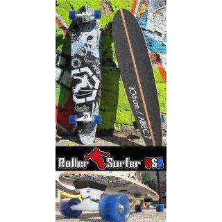 ROLLERSURFER Longboard 106 cm ABEC 7 Skateboard Surfing on Street Typ