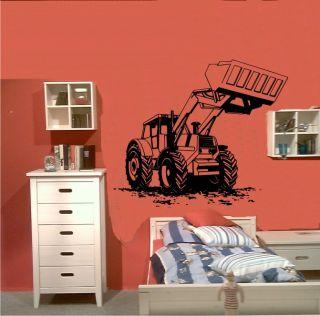 Wandtattoo Wandsticker #181 Traktor Bulldog Raupe
