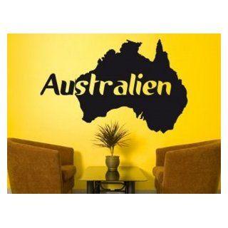Wandtattoo, Wandsticker Australien in vielen Farben und Größen