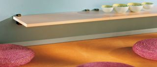 Wandregal Lite+Cuadro in weiß, silber, wood, mocca