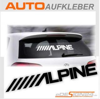 E171 Alpine Autoradio Radio Aufkleber Sticker Auto NEU