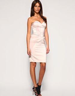 Karen Millen Corsetry Detailed Dress Corset Strapless 6 8 16 £165