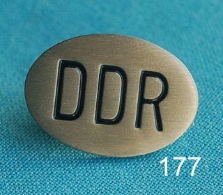 DDR ovales Schild Pin Anstecker Button Anstecknadel Badge 177