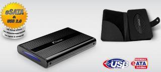 1000 GB EXTERNE 2,5 FESTPLATTE   FANTEC DB 228U2e   BACKUP USB 2.0