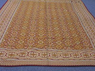 indischer Wandbehang, Tagesdecke aus Kunstseide 192 x 145cm NEU